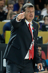 02.09.2014, City Arena, Bilbao, ESP, FIBA WM, Ukraine vs Türkei, im Bild Turkey's coach Ergin Ataman // during FIBA Basketball World Cup Spain 2014 match between Ukraine and Turkey at the City Arena in Bilbao, Spain on 2014/09/02. EXPA Pictures © 2014, PhotoCredit: EXPA/ Alterphotos/ Acero<br /> <br /> *****ATTENTION - OUT of ESP, SUI*****