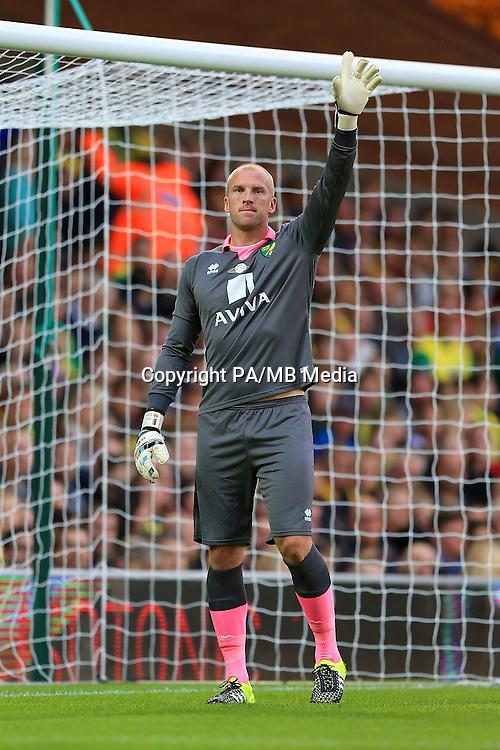 Goalkeeper John Ruddy, Norwich City.