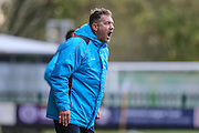Forest Green Rovers assistant manager, Scott Lindsey shouts instructions during the Vanarama National League match between Forest Green Rovers and Aldershot Town at the New Lawn, Forest Green, United Kingdom on 5 November 2016. Photo by Shane Healey.