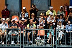 Supporters and family of Blaz Rola of Slovenia at semifinal match during Day 9 of ATP Challenger Zavarovalnica Sava Slovenia Open 2019, on August 17, 2019 in Sports centre, Portoroz/Portorose, Slovenia. Photo by Vid Ponikvar / Sportida