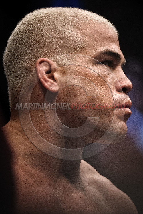 "LAS VEGAS, NEVADA, MAY 24, 2008: Tito Ortiz stands ready in his corner ahead of his fight at ""UFC 84: Ill Will"" inside the MGM Grand Garden Arena in Las Vegas"