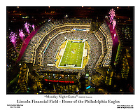 Aerial view of the Link, Monday Night Game.<br /> 11x14 Digital Print. Philadelphia Eagles vs Cleveland Eagles vs Cleveland Browns.<br /> FREE SHIPPING