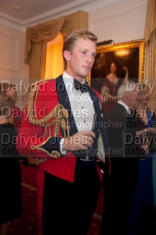 CAPT. CHARLES PEARSON, Charity Dinner in aid of Caring for Courage The Royal Scots Dragoon Guards Afganistan Welfare Appeal. In the presence of the Duke of Kent. The Royal Hospital, Chaelsea. London. 20 October 2011. <br /> <br />  , -DO NOT ARCHIVE-© Copyright Photograph by Dafydd Jones. 248 Clapham Rd. London SW9 0PZ. Tel 0207 820 0771. www.dafjones.com.