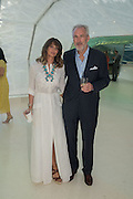 JEREMY KING; LAUREN GURVICH;, Serpentine's Summer party co-hosted with Christopher Kane. 15th Serpentine Pavilion designed by Spanish architects Selgascano. Kensington Gardens. London. 2 July 2015.