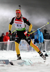 05.01.2012, DKB-Ski-ARENA, Oberhof, GER, E.ON IBU Weltcup Biathlon 2012, Staffel Herren, im Bild Arnd Peiffer (GER) // during relay Mens of E.ON IBU World Cup Biathlon, Thüringen, Germany on 2012/01/05. EXPA Pictures © 2012, PhotoCredit: EXPA/ nph/ Hessland..***** ATTENTION - OUT OF GER, CRO *****