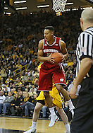 January 19 2013: Wisconsin Badgers forward Ryan Evans (5) pulls down a rebound during the first half of the NCAA basketball game between the Wisconsin Badgers and the Iowa Hawkeyes at Carver-Hawkeye Arena in Iowa City, Iowa on Sautrday January 19 2013. Iowa defeated Wisconsin 70-66.