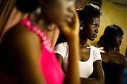 Nana Yaa Adadewa Addo, 24, prepares to practice her catwalk during a rehearsal in Ghana's capital Accra on Thursday May 21, 2009. Nana Yaa is one of several Ghanaian girls who auditioned for the upcoming television show West Africa's Next Top Model, the latest incarnation of Tyra Banks' America's Next Top Model.