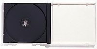 Compact Disc CD Jewel Case on white background