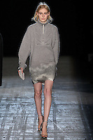Julia Nobis walks the runway wearing Alexander Wang Fall 2011 Collection during Mercedes-Benz Fashion Week in New York on February 12, 2011