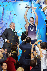 CHRISTA HARMOTTO DIETZEN RISES THE WORLD CHAMPIONSHIP'S CUP<br /> AWARDING CEREMONY<br /> VOLLEYBALL WOMEN'S WORLD CHAMPIONSHIP 2014<br /> MILAN 12-10-2014<br /> PHOTO BY FILIPPO RUBIN