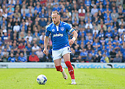 Portsmouth defender Ben Davies during the Sky Bet League 2 match between Portsmouth and Northampton Town at Fratton Park, Portsmouth, England on 7 May 2016. Photo by Adam Rivers.