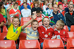 CARDIFF, WALES - Saturday, October 11, 2008: Wales supporters during the 2010 FIFA World Cup South Africa Qualifying Group 4 match against Liechtenstein at the Millennium Stadium. (Photo by David Rawcliffe/Propaganda)