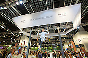 Photokina in Cologne ist the World's biggest bi-annual photo fair..Full frame is all the rage at the Sony stand.