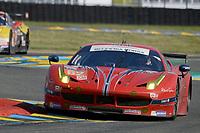 William Sweedler (USA) / Towsend BELL (USA) / Jeffrey SEGAL (USA) #62 Scuderia Corsa Ferrari 458 ITALIA, . Le Mans 24 Hr June 2016 at Circuit de la Sarthe, Le Mans, Pays de la Loire, France. June 18 2016. World Copyright Peter Taylor/PSP.