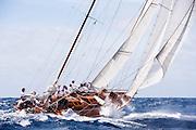 Galatea sailing in the 2010 Antigua Classic Yacht Regatta, Windward Race, day 4.