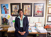Cynthia Nance, Dean Emeritus and Nathan G. Gordon Professor of Law at the University of Arkansas, in Fayetteville, Arkansas. Photo by Beth Hall