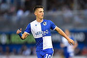 Tom Nichols (10) of Bristol Rovers during the EFL Cup match between Bristol Rovers and Brighton and Hove Albion at the Memorial Stadium, Bristol, England on 27 August 2019.