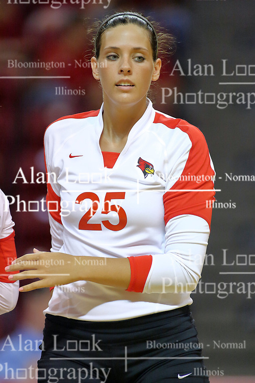 31 Aug 2010: LeighAnn Hranka.  The Illinois State Redbirds trumped the Rambles of Loyola-Chicago 3 sets to none at Redbird Arena on the campus of Illinois State University in Normal Illinois.