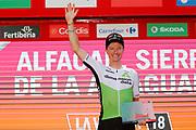 Podium, Benjamin King (USA - Dimension Data) winner, during the UCI World Tour, Tour of Spain (Vuelta) 2018, Stage 4, Velez Malaga - Alfacar Sierra de la Alfaguara 161,4 km in Spain, on August 28th, 2018 - Photo Luis Angel Gomez / BettiniPhoto / ProSportsImages / DPPI