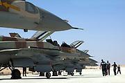 IAF F-16I Fighter jet on the ground
