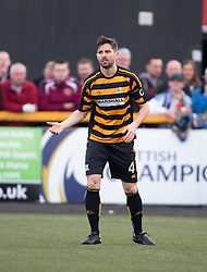 Alloa Athletic's Ben Gordon.<br /> Alloa Athletic 0 v 1 Hearts, Scottish Championship played at Recreation Park, Alloa.