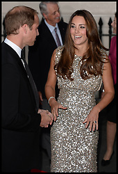 The Duke and Duchess of Cambridge attend the Tusk Conservation Awards. London, United Kingdom. Thursday, 12th September 2013. Picture by Andrew Parsons / i-Images