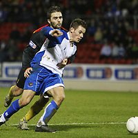 St Johnstone v Partick Thistle....05.01.08 <br /> David Rowson wrestles with Kevin Moon but no penalty was awarded<br /> Picture by Graeme Hart.<br /> Copyright Perthshire Picture Agency<br /> Tel: 01738 623350  Mobile: 07990 594431