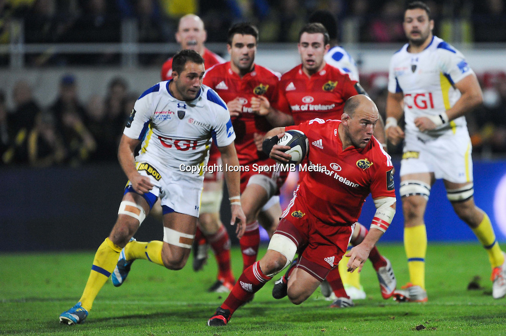 Alexandre LAPANDRY / BJ BOTHA - 14.12.2014 - Clermont / Munster - European Champions Cup <br /> Photo : Jean Paul Thomas / Icon Sport