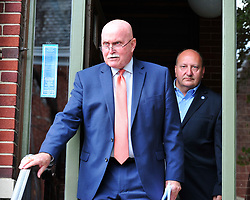 Allentown Mayor Ed Pawlowski and his attorney Jack McMahon speak at a news conference in the wake of a filing of a federal indictment against Pawlowski alleging he participated in a pay-to-play scheme Wednesday July 26, 2017 in Allentown. (Chris Post   Lehighvalleylive.com contributor)