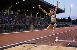 Nina Kolaric of Slovenia competes at Long jump Women during 20th European Athletics Classic Meeting in Honour of Miners' Day in Velenje on July 1, 2015 in Stadium Velenje, Slovenia. Photo by Vid Ponikvar / Sportida