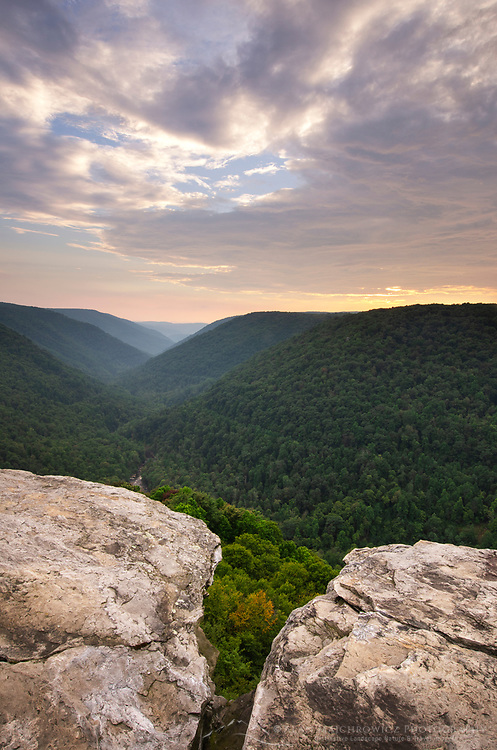 Sunset at Lindy Point Overlook, Blackwater Falls West Virgina.