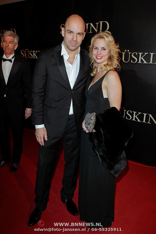 NLD/Amsterdam/20120115 - Premiere Suskind, Peter Post en partner Sietske