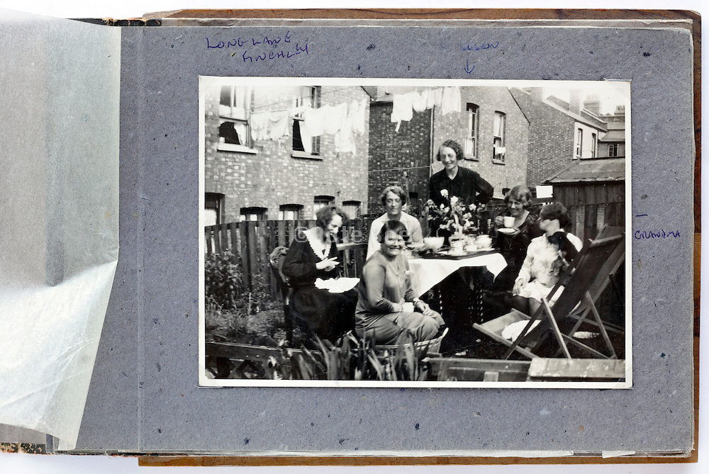 photo album with a  happy moment family and friends gathering 1950s London