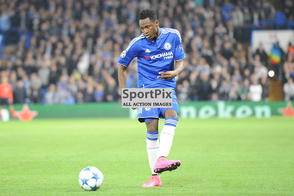 Chelseas Adbul Baba Rahman in action during the Chelsea v Dynamo Kiev champions league match in the group stage on the 4th November 2015
