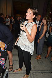 SAFFRON ALDRIDGE at a private view of Revolution: Records and Rebels 1966-1970 at the V&A, London on 7th September 2016.