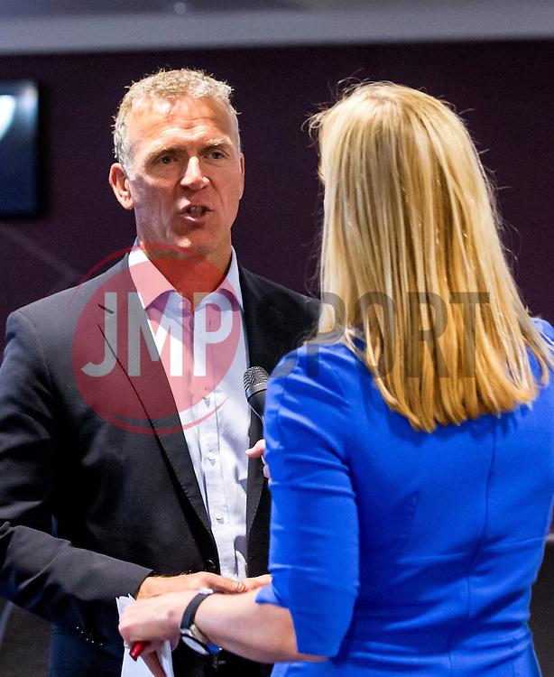 Alec Stewart is interviewed for Bristol Sport TV - Mandatory by-line: Robbie Stephenson/JMP - 27/05/2016 - PR - Ashton Gate - Bristol, England - Bristol Sport Big Breakfast Alec Stewart