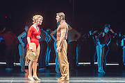 08/02/2013. London, UK. A Chorus Lineopened for first time in London season, since its first in 1976 won the Olivier Award for Best Musical. This full London revival of the Broadway Production A Chorus Line is being staged at the London Palladium from February 2013. The production is directed by Broadway and West End veteran director and choreographer Bob Avian. Picture shows John Partridge (Zach) & Scarlett Strallen (Cassie).