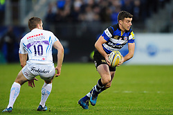 George Ford of Bath Rugby in possession - Mandatory byline: Patrick Khachfe/JMP - 07966 386802 - 31/12/2016 - RUGBY UNION - The Recreation Ground - Bath, England - Bath Rugby v Exeter Chiefs - Aviva Premiership.