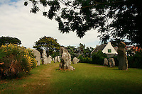 Menhirs,  (Celtic stone) St.Pierre de Quiberon,Brittany..photo by Owen Franken for the NY Times..July 7, 2008..