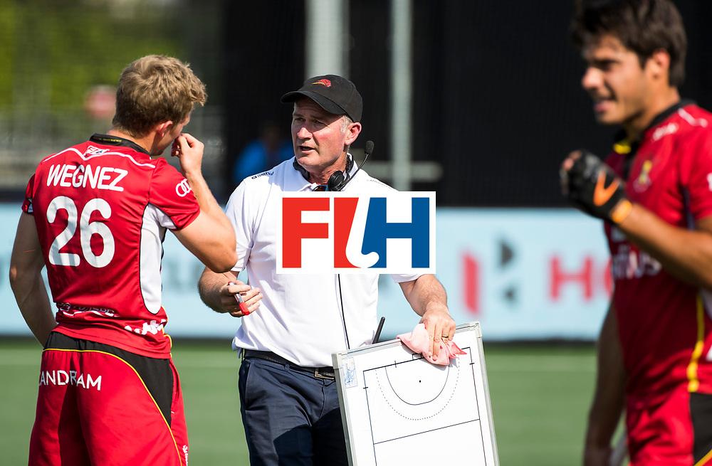 BREDA - coach Shane McLeod (Bel) met Victor Wegnez (Bel)         India-Belgie .  Rabobank Champions  Trophy `2018 .  COPYRIGHT  KOEN SUYK