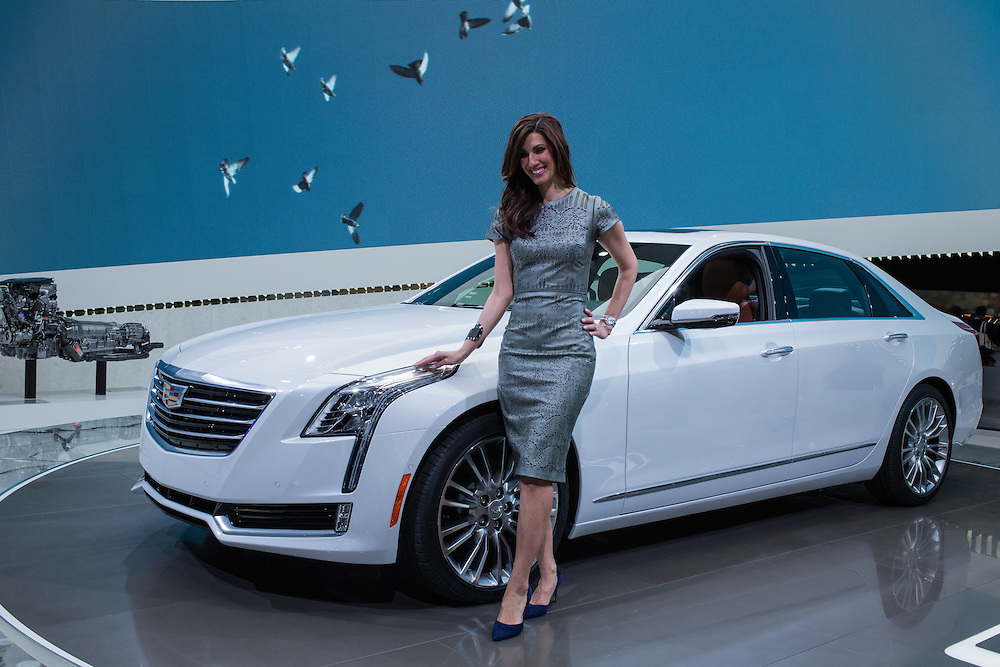 New York, NY - 1 April 2015. Cadillac debuts its CT6 at the New York International Auto Show, which it hopes will compete with European luxury marques.
