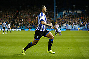 Massimo Luongo of Sheffield Wednesday Celebrates scoring a goal to make it 1-0 during the EFL Sky Bet Championship match between Sheffield Wednesday and Stoke City at Hillsborough, Sheffield, England on 22 October 2019.