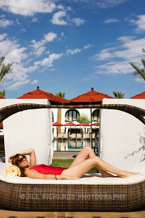 15783 azm-cover0709-05/27/09-Agency Arizona model Jennie photographed on location at InterContinental Montelucia Resort and Spa (cq) in Paradise Valley.<br /> <br /> <br /> Photo Illustration by Jill Richards/Arizona Republic