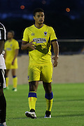 AFC Wimbledon striker Lyle Taylor (33) during the Pre-Season Friendly match between Dover Athletic and AFC Wimbledon at Crabble Athletic Ground, Dover, United Kingdom on 12 July 2016. Photo by Stuart Butcher.