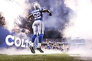 INDIANAPOLIS, IN - SEPTEMBER 21: D'Qwell Jackson #52 of the Indianapolis Colts runs onto the field during introductions against the New York Jets at Lucas Oil Stadium on September 21, 2015 in Indianapolis, Indiana. The Jets defeated the Colts 20-7. (Photo by Joe Robbins)