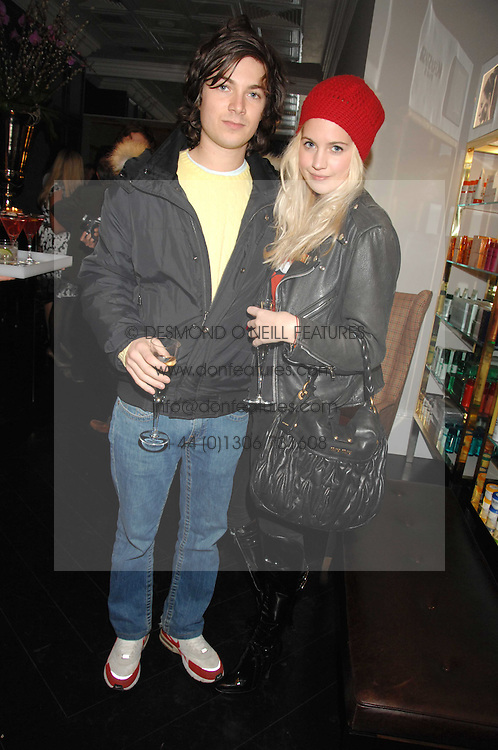 MARISSA MONTGOMERY and her brother MAX MONTGOMERY at the opening party of hairdresser Paul Edmond's new salon at 217 Brompton Road, London SW3 on 18th March 2008.<br />