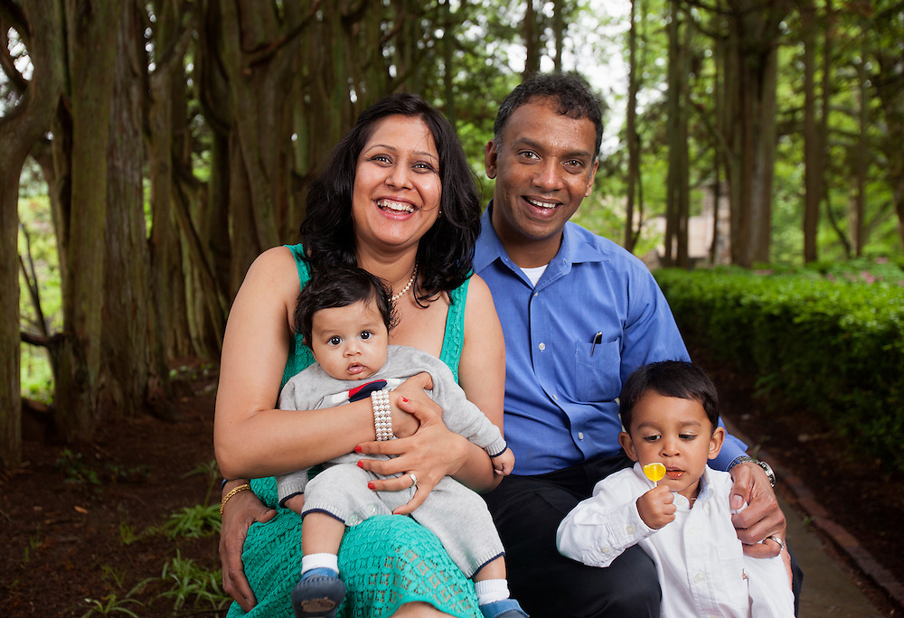 Anu and Neil Bhandar and Family. Ridley Creek State Park.