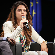 03 June 2015 - Belgium - Brussels - European Development Days - EDD - Special Event - A more connected , contested and complex world is in your hands - A conversation with Federica Mogherini and Sam Kutesa - Nada Diouri , Future Leader © European Union