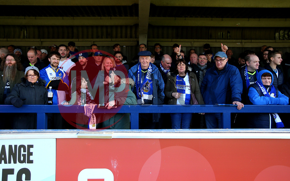 Bristol Rovers fans at AFC Wimbledon - Mandatory by-line: Robbie Stephenson/JMP - 17/02/2018 - FOOTBALL - Cherry Red Records Stadium - Kingston upon Thames, England - AFC Wimbledon v Bristol Rovers - Sky Bet League One