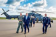 King Willem-Alexander of The Netherlands visits Defense Helicopter Command in Gilze-Rijen, The Netherlands, 27 October 2017. Photo: Koning Willem-Alexander heeft een werkbezoek gebracht aan luchtmachtbasis Gilze-Rijen, onderdeel van het Defensie Helikopter Commando (DHC), en het tegenoverliggende Gate2, het kenniscentrum voor luchtvaart en industrieel onderhoud van Midpoint Brabant. copyrught robin utrecht